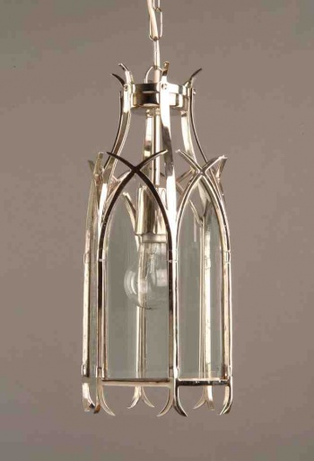 Nickel Gothic Hanging Lantern